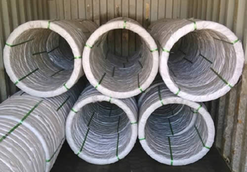 High Tensile Galvanized Steel Oval Wire Galv Iron Wire